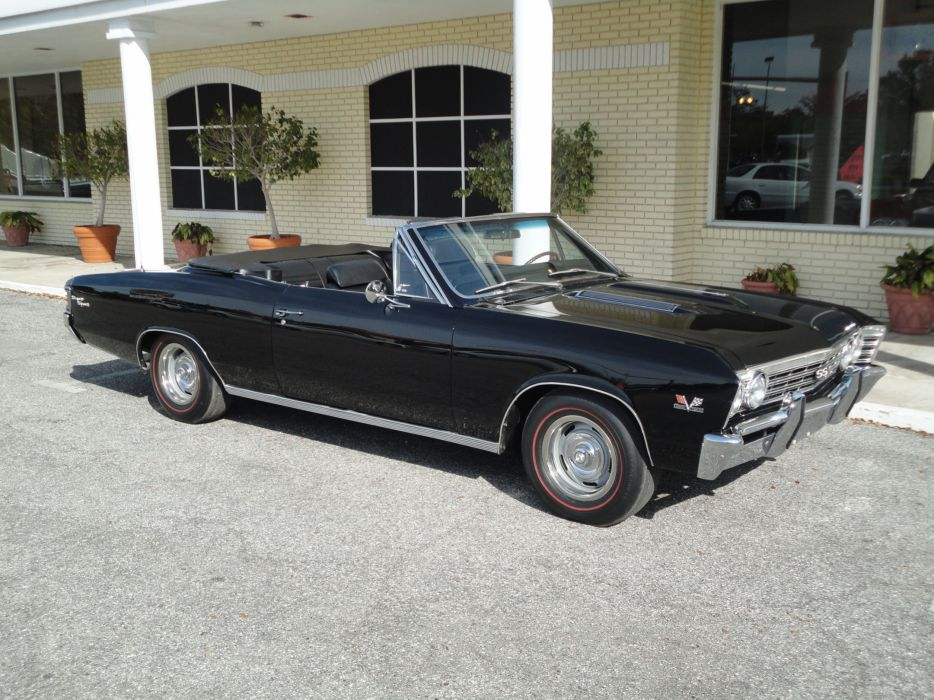 1967 CHEVROLET CHEVELLE SS CONVERTIBLE muscle classic s-s  h wallpaper
