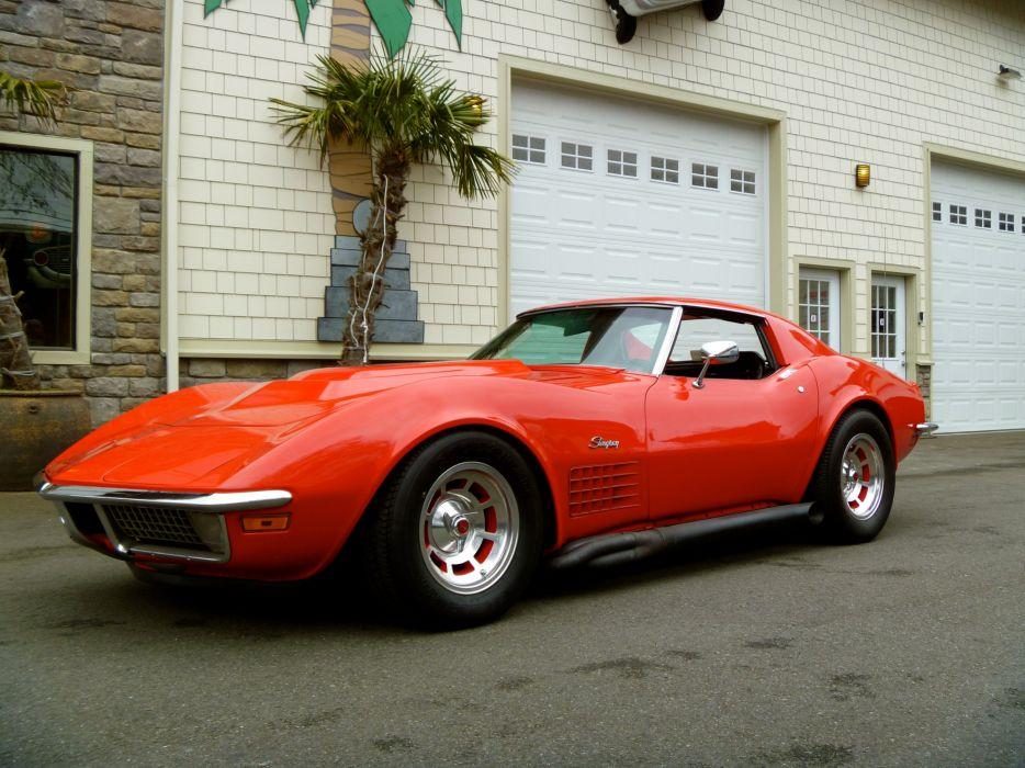 1970 Chevrolet Corvette Stingray supercar muscle classic      f wallpaper