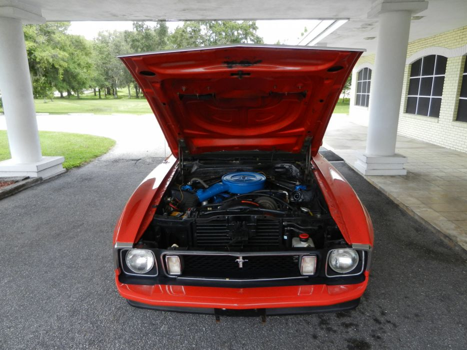 1973 FORD MUSTANG MACH-1 SPORTSROOF hot rod rods muscle classic engine     g wallpaper