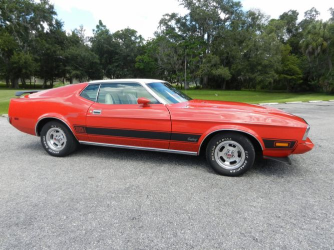 1973 FORD MUSTANG MACH-1 SPORTSROOF hot rod rods muscle classic h wallpaper