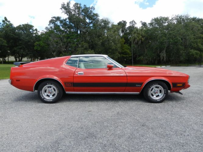 1973 FORD MUSTANG MACH-1 SPORTSROOF hot rod rods muscle classic g wallpaper