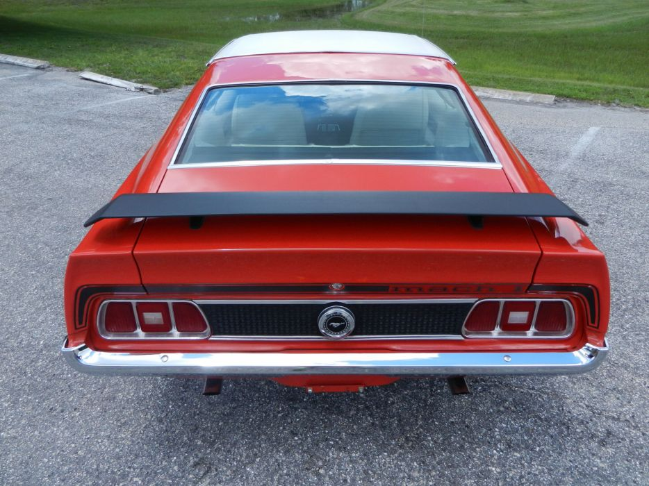 1973 FORD MUSTANG MACH-1 SPORTSROOF hot rod rods muscle classic  f wallpaper