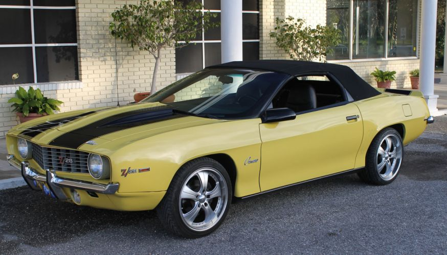 1994 CHEVROLET CAMARO Z-28 CONVERTIBLE 1969 replica hot rod rods muscle f wallpaper