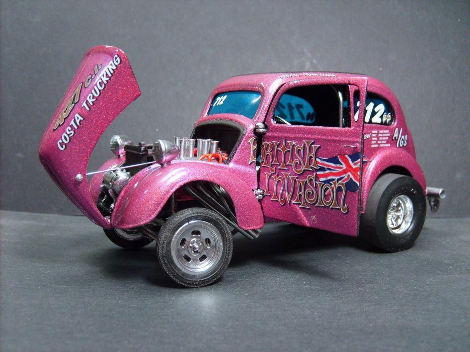 ANGLIA hot rod rods retro drag racing race gasser     d wallpaper