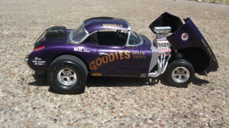 CHEVROLET CORVETTE hot rod rods drag racing race gasser engine r wallpaper