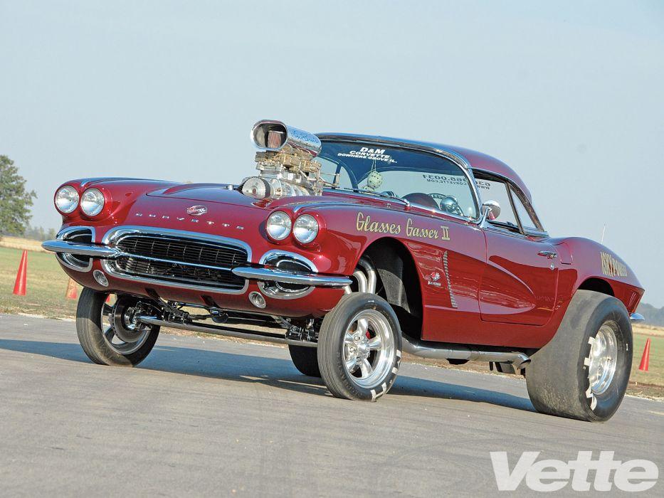 Chevrolet Corvette Hot Rod Rods Retro Drag Racing Race