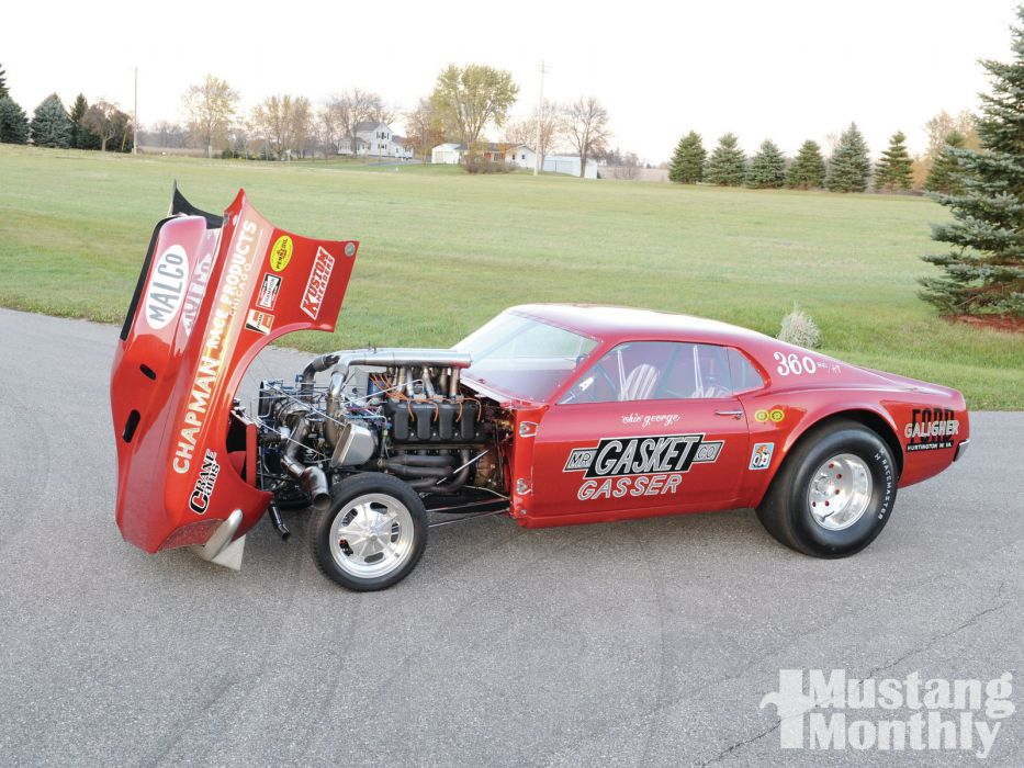 FORD MUSTANG hot rod rods drag racing race gasser engine          g wallpaper