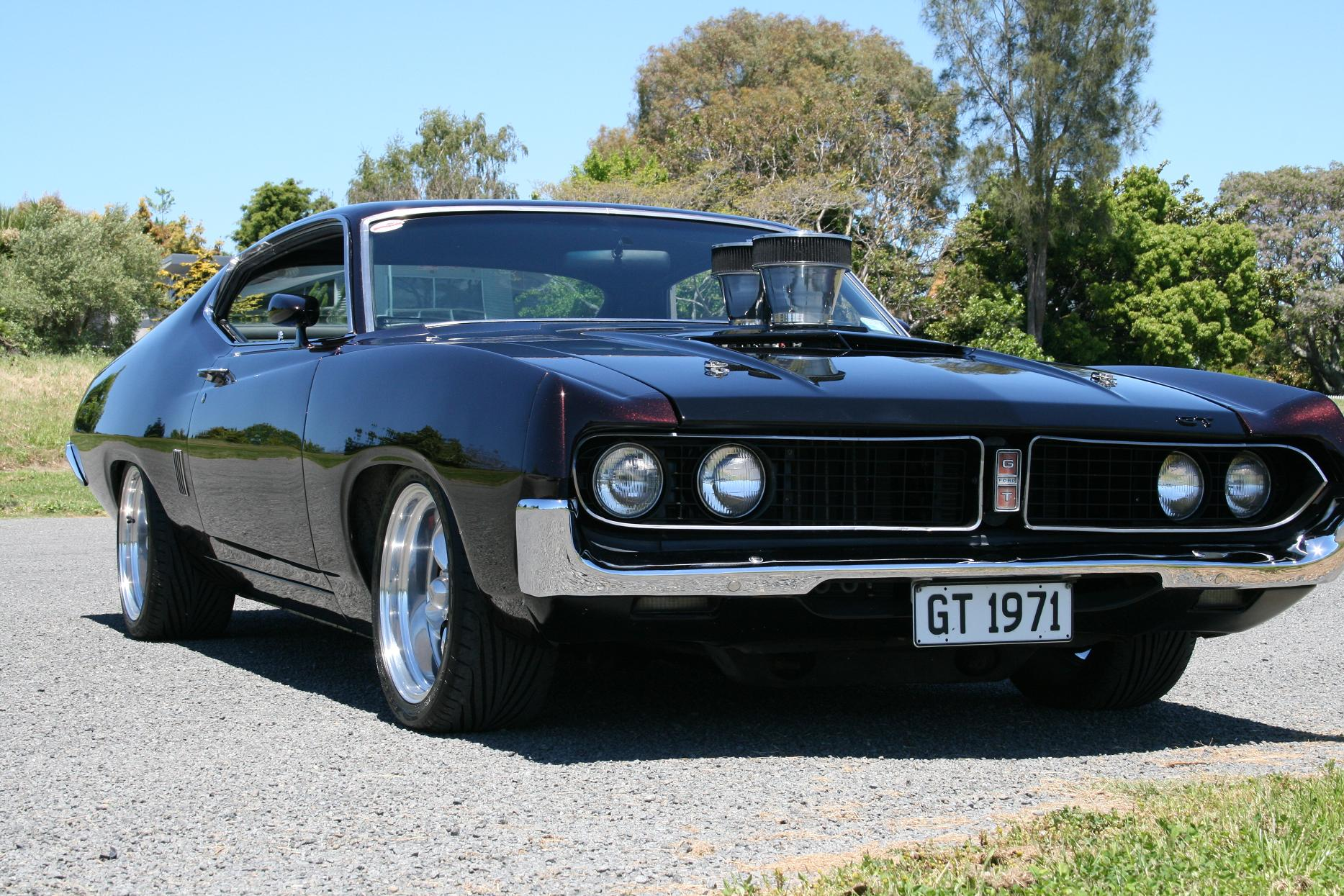 hot rod rods classic muscle 1971 Ford Torino f_JPG wallpaper ...