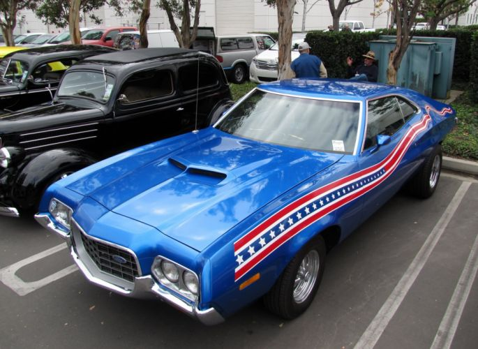 hot rod rods classic muscle 1972 Ford Torino r wallpaper