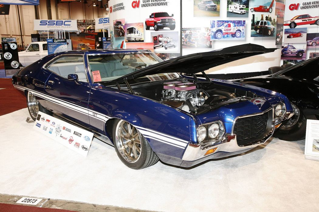 hot rod rods classic muscle 1972 Ford Torino engine     g wallpaper