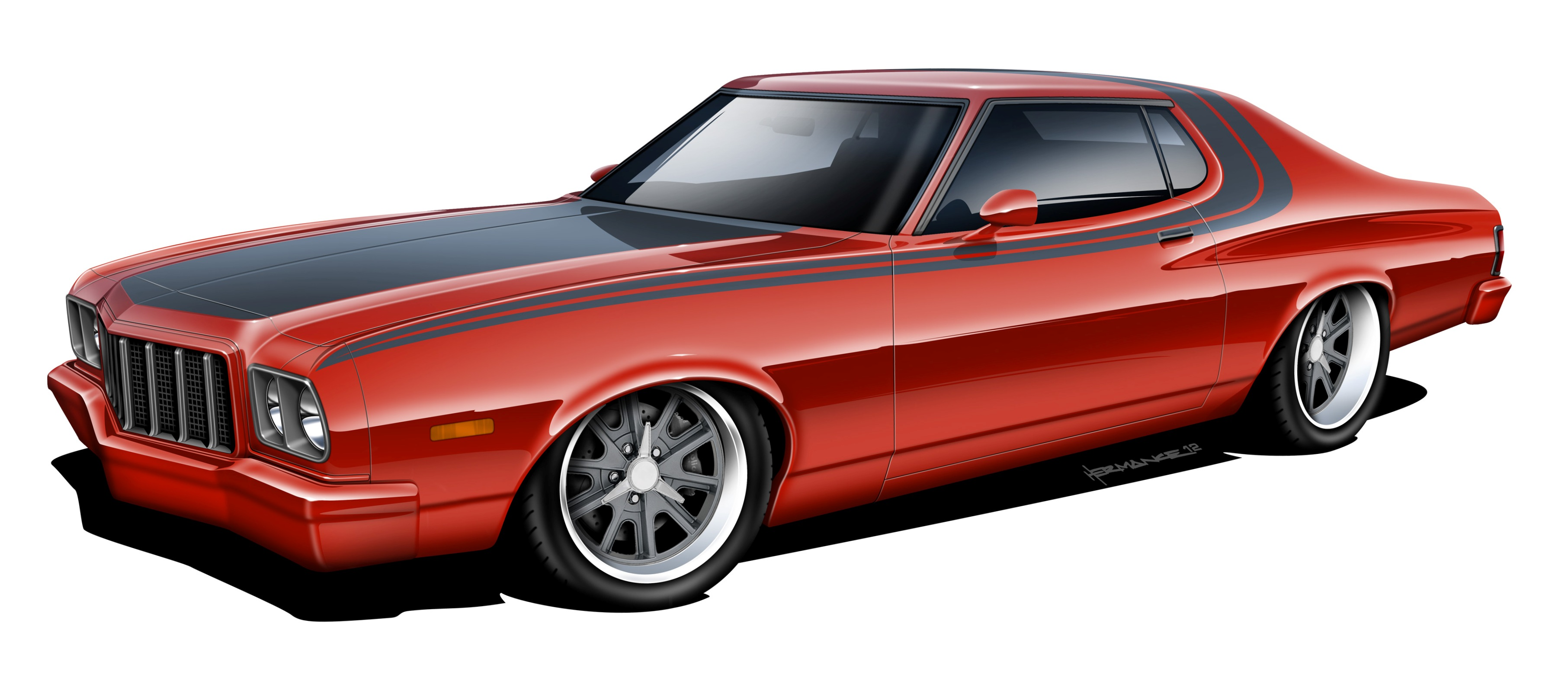 hot rod rods classic muscle 1976 Ford Gran Torino g wallpaper ...