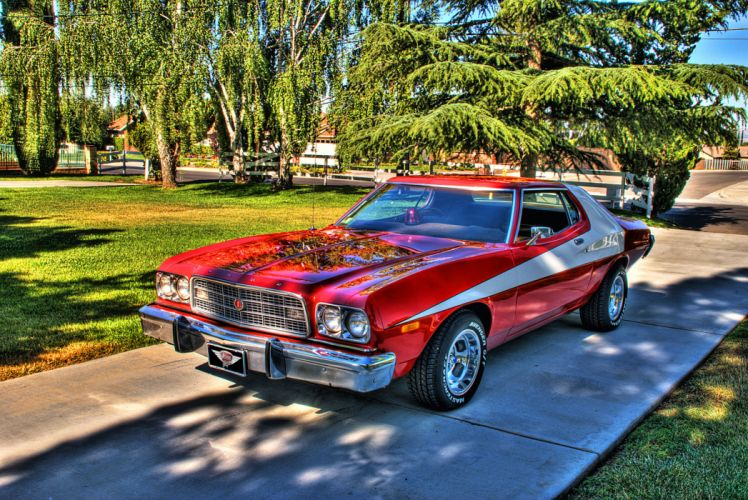 hot rod rods classic muscle 1973 Ford Torino g wallpaper