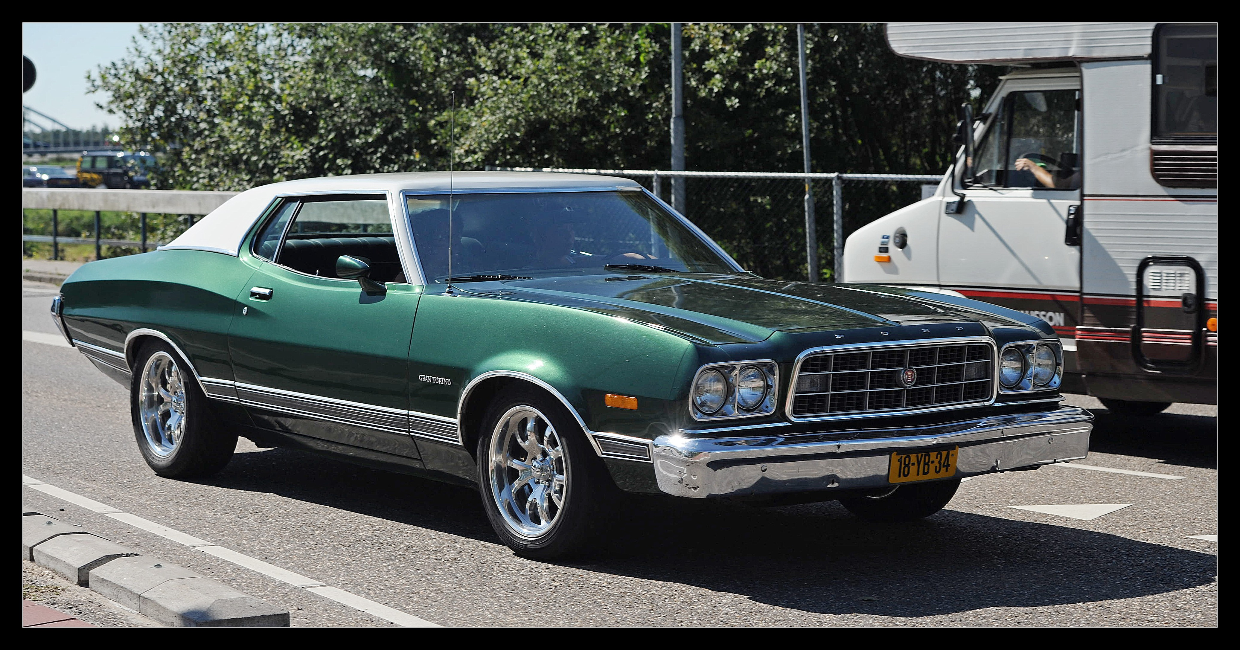 hot rod rods classic muscle 1973 Ford Torino t wallpaper background