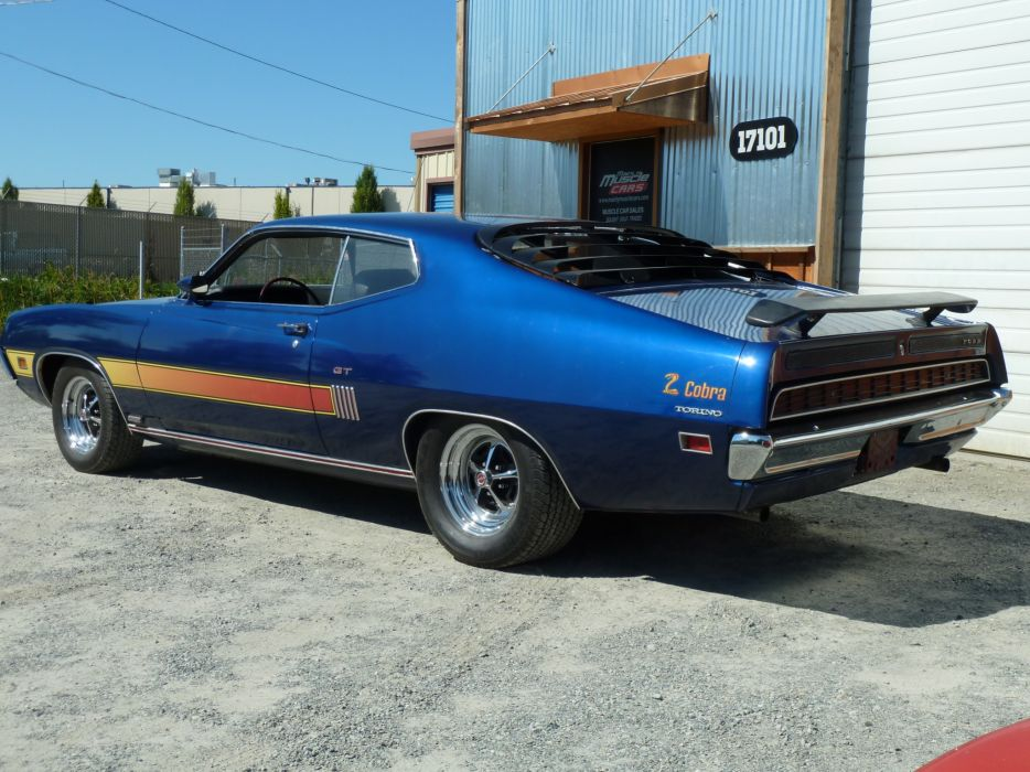 muscle classic 1970 Ford Torino  r_JPG wallpaper