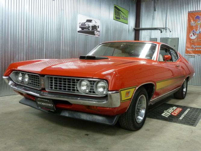 muscle classic 1971 Ford Torino t_JPG wallpaper