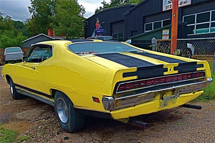 muscle classic 1971 Ford Torino GT g-t g wallpaper