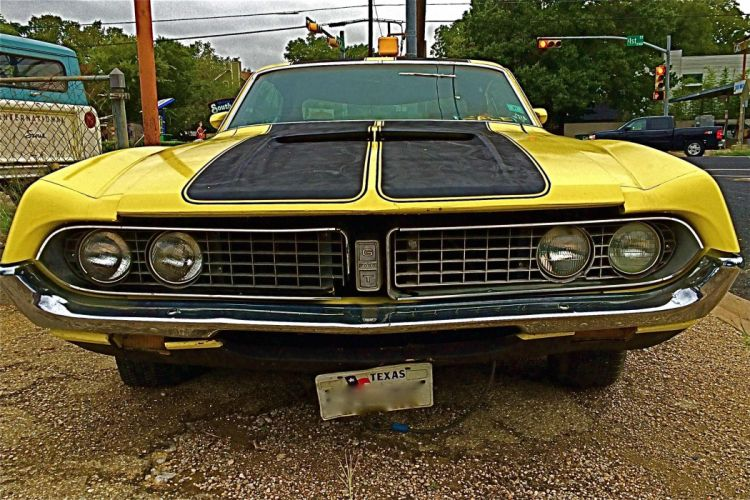 muscle classic 1971 Ford Torino GT g-t f wallpaper