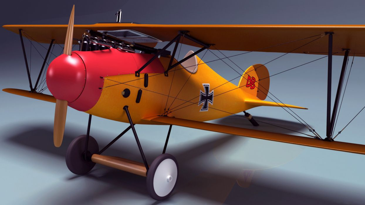 albatross diii art plane retro Germany biplane military       g wallpaper