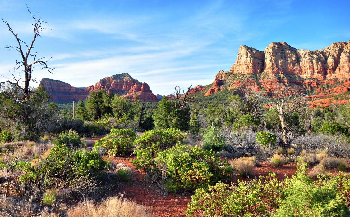 Arizona USA mountains rocks landscape wallpaper
