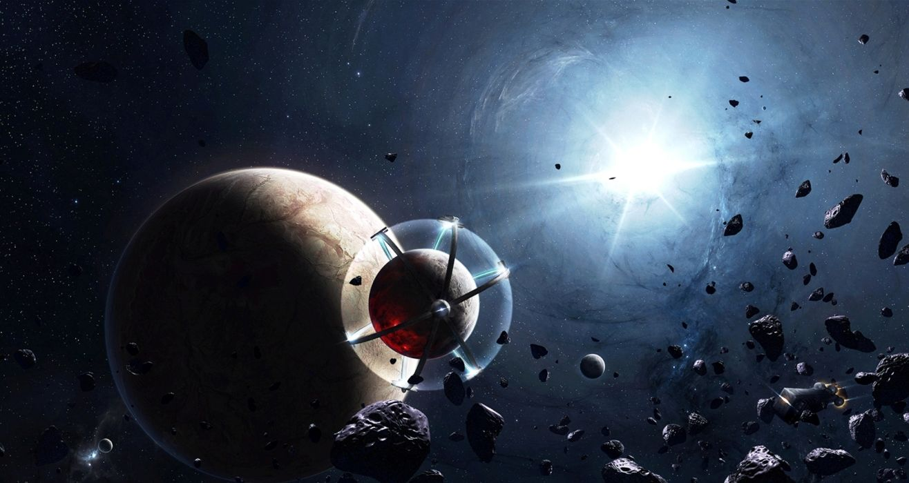 Asteroid Planet Space sci-fi wallpaper