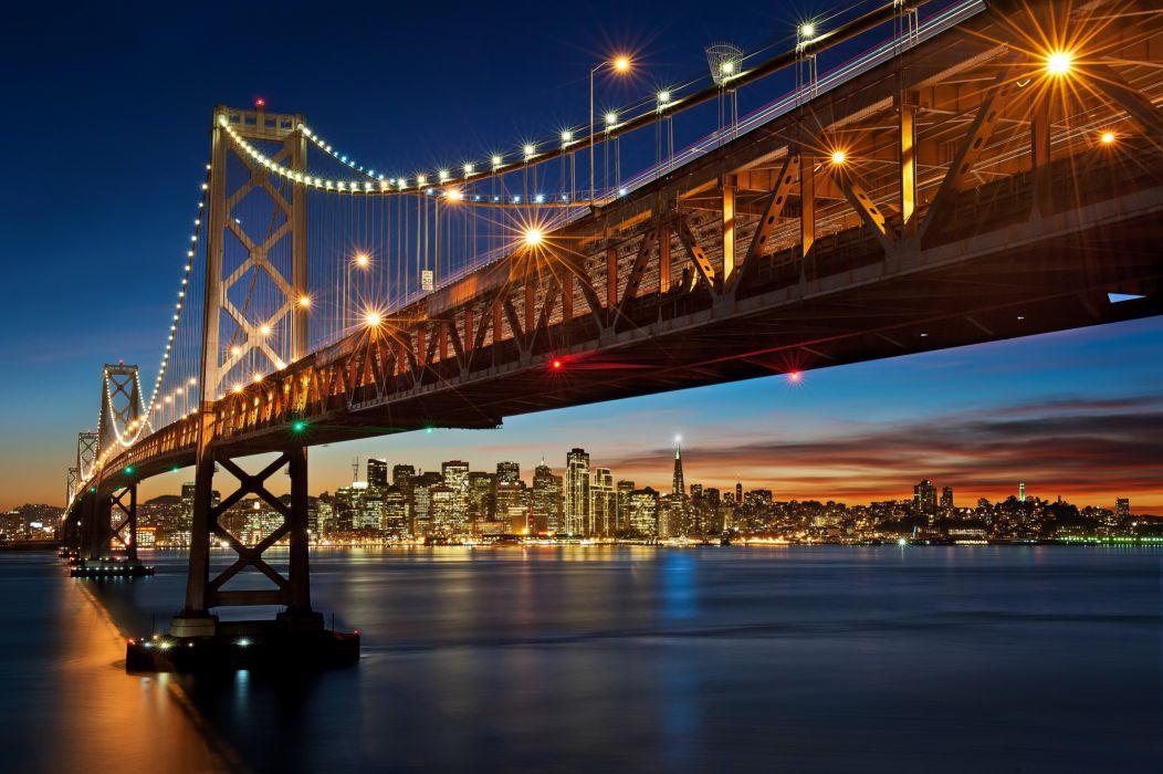 Bridges California San Francisco Cities wallpaper