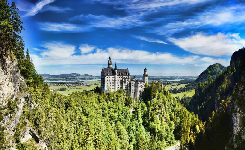 Castle Germany Summer Sky Neuschwanstein Bavaria wallpaper
