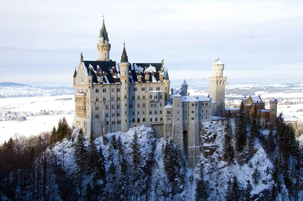 Castle Germany Winter Neuschwanstein Bavaria wallpaper