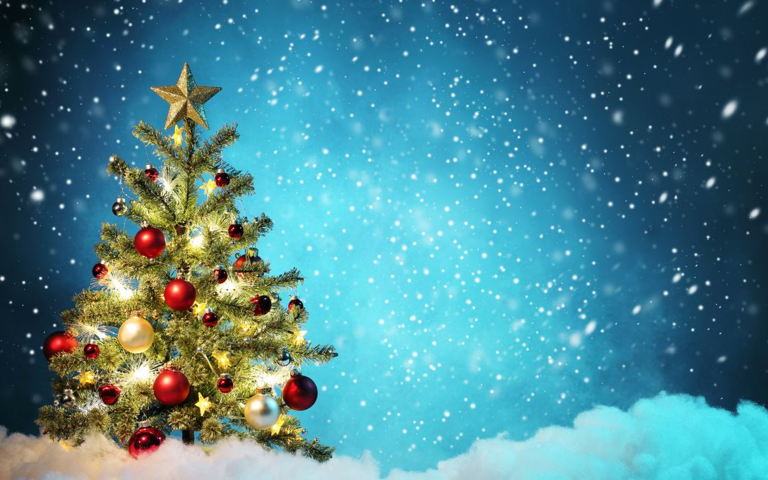 christmas tree new year wallpaper