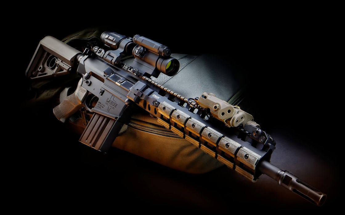 gun scope laser system assault rifle military wallpaper