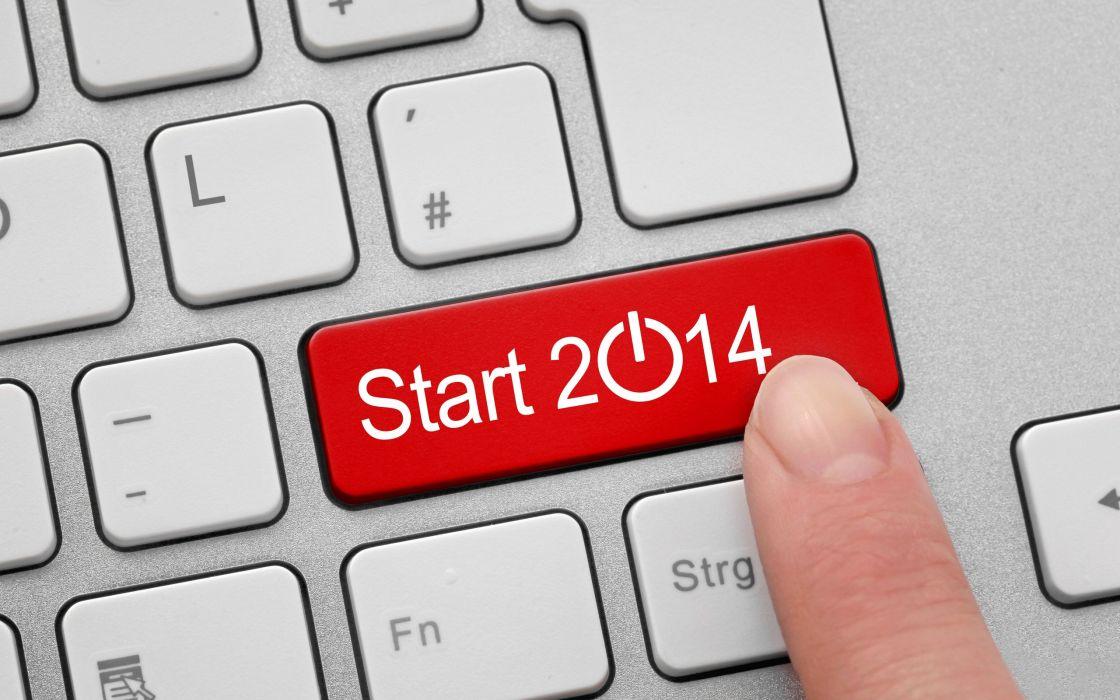 keyboard start button pin 2014 newy year computer wallpaper