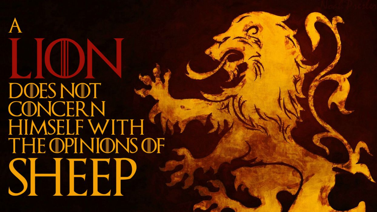 Lion Sheep sadic wallpaper