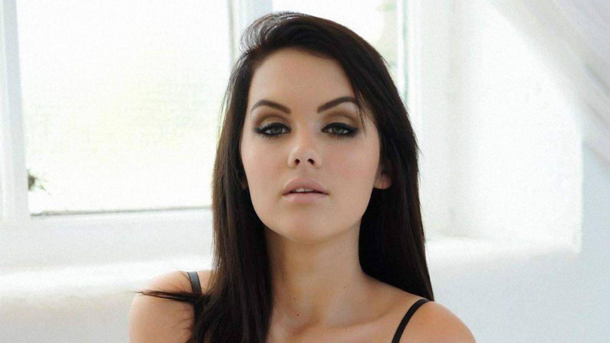 MELISSA CLARKE model brunette sexy babe     r wallpaper