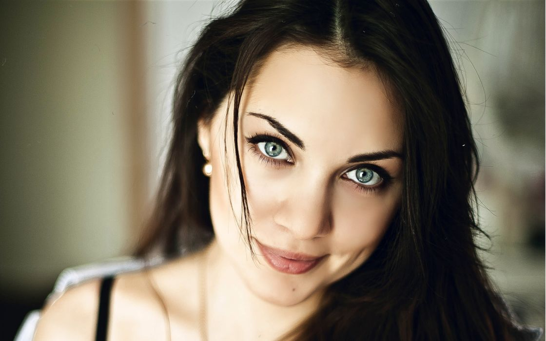 Nastasya Samburskaya Eyes Face Glance Smile Celebrities Girls wallpaper