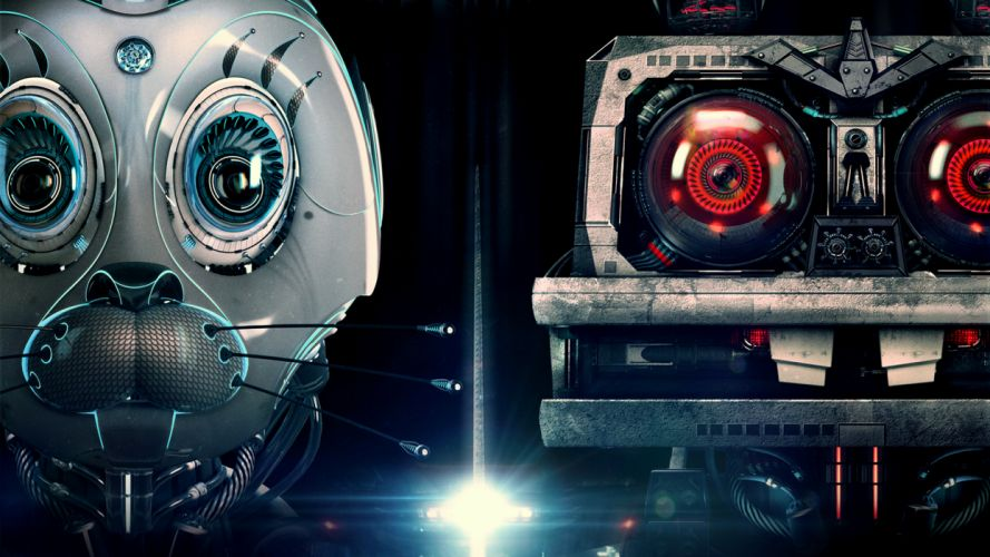 Nu pogodi! Hares Eyes Robot Glance Fantasy sci-fi g wallpaper