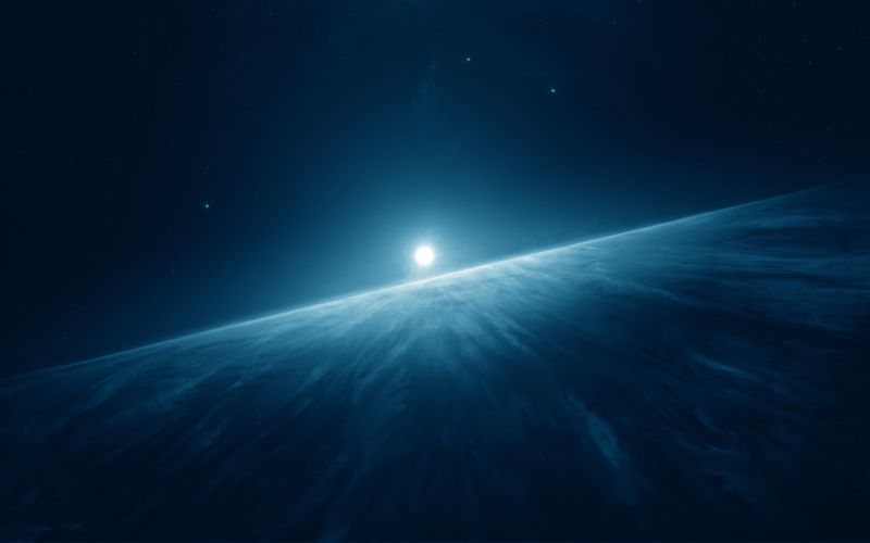 planet sci-fi sun wallpaper