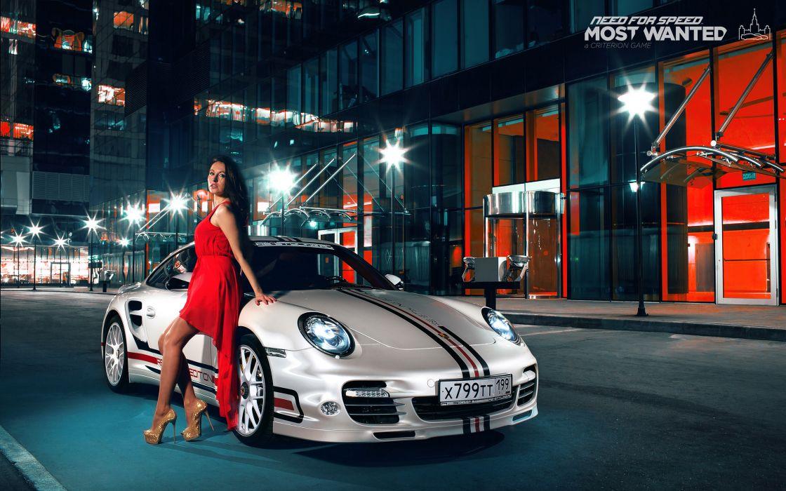 Porsche 911 turbo brunette dress nfs most wanted smotra wallpaper