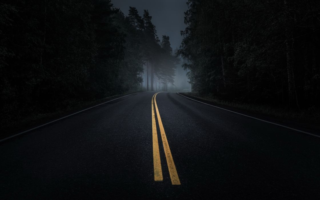 road night landscape mood wallpaper