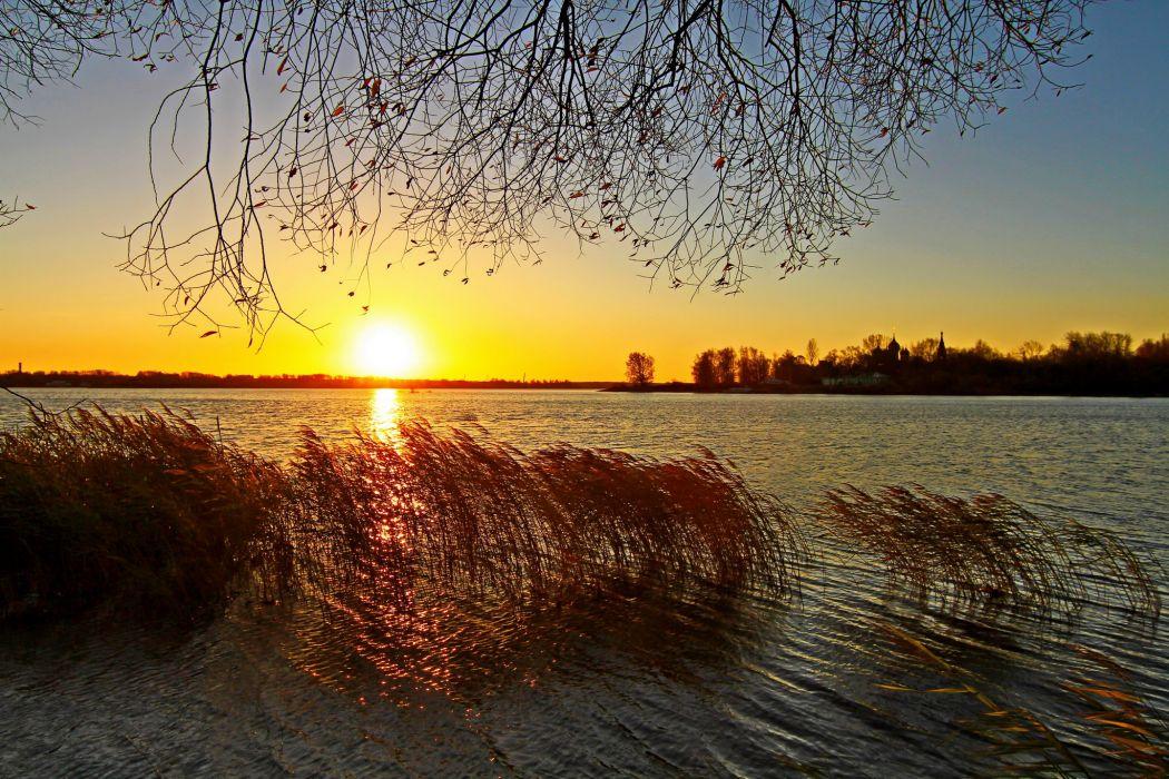 Sunrises and sunsets Sun Nature autumn wallpaper