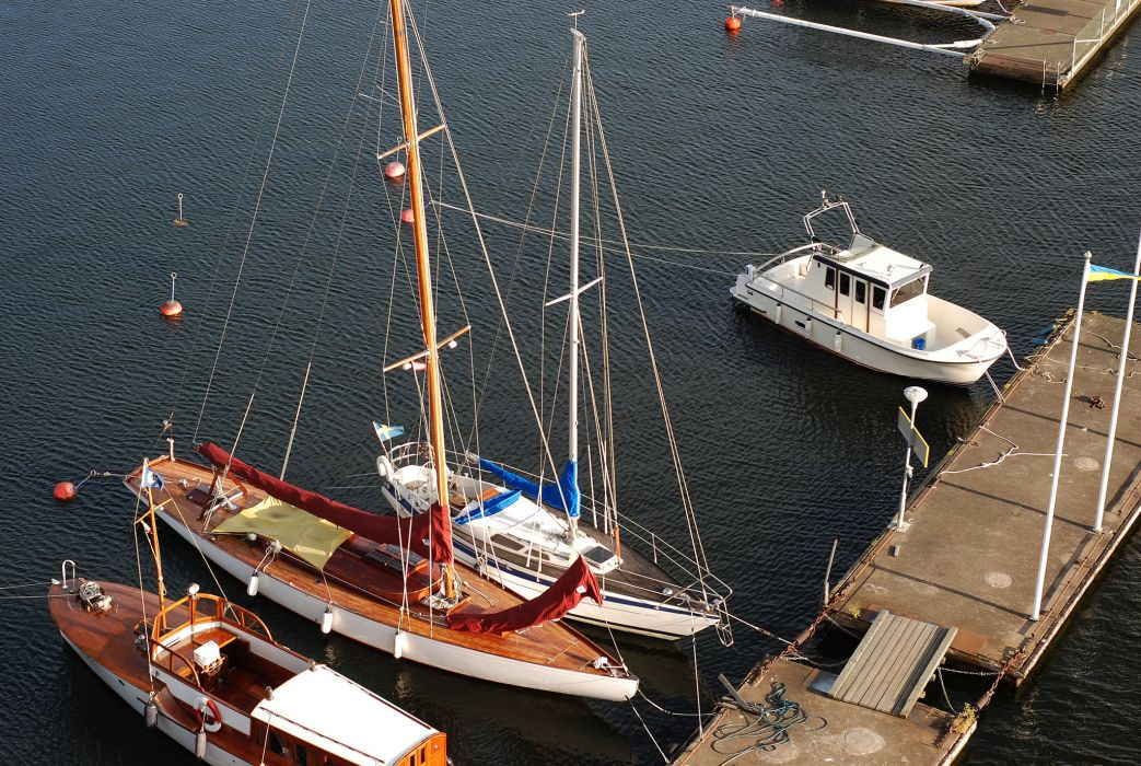 Sweden the yacht barge dock wallpaper