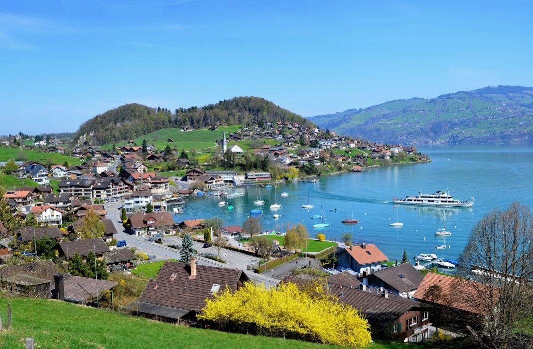 Switzerland Coast Berne Cities wallpaper