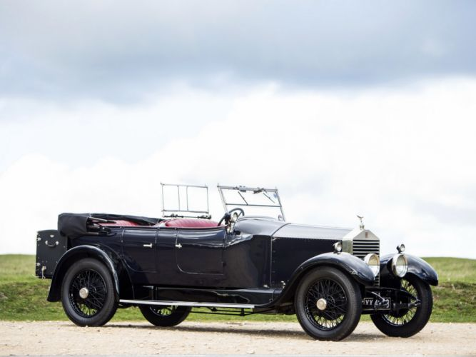1928 Rolls Royce 20-HP Coupe Cabriolet by Barker luxury retro d wallpaper