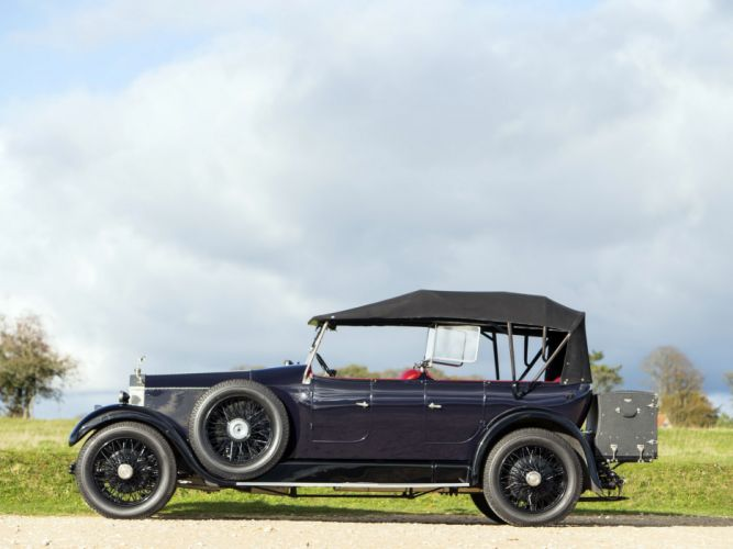 1928 Rolls Royce 20-HP Coupe Cabriolet by Barker luxury retro t wallpaper