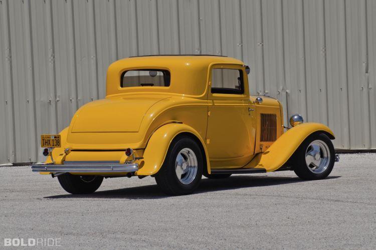 1932 Ford Three-Window Coupe hot rod rods retro e wallpaper