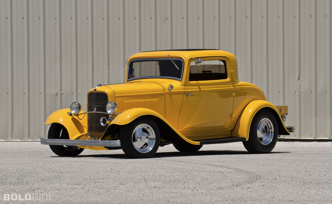 1932 Ford Three-Window Coupe hot rod rods retro      g wallpaper