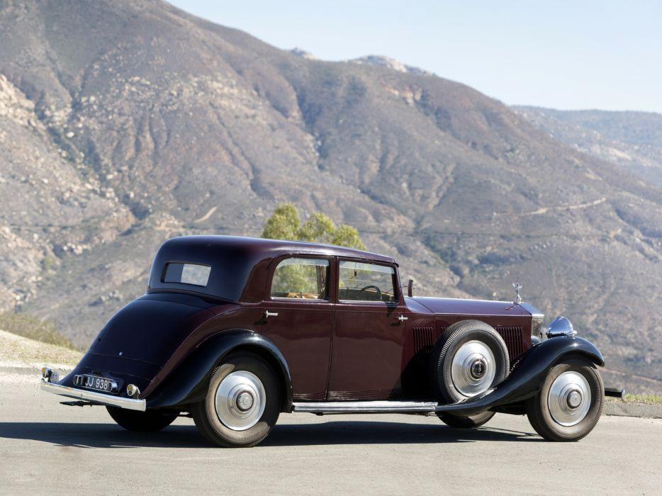 1933 Rolls Royce Phantom II Continental Touring Saloon by Barker luxury retro        g wallpaper