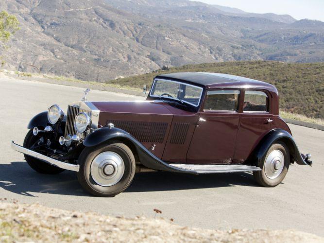 1933 Rolls Royce Phantom II Continental Touring Saloon by Barker luxury retro r wallpaper