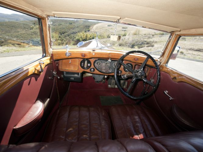 1933 Rolls Royce Phantom II Continental Touring Saloon by Barker luxury retro interior g wallpaper