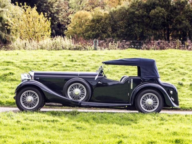 1934 Bentley Tourer by Lancefield Corsica retro wheel g wallpaper