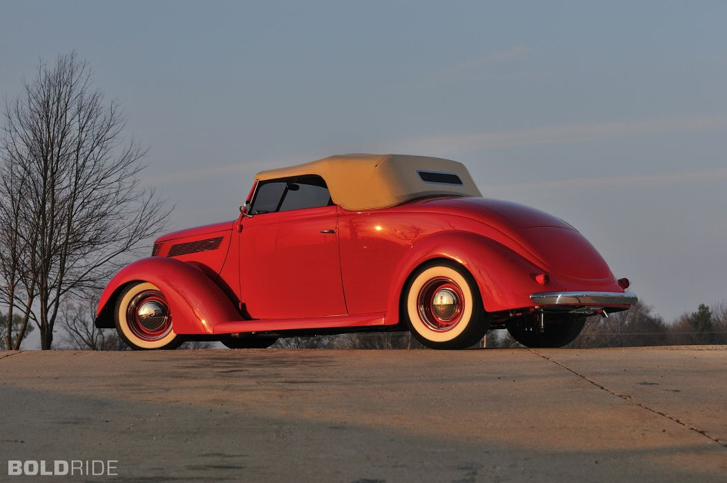 1937 Ford Deluxe Convertible Coupe hot rod rods retro custom f wallpaper