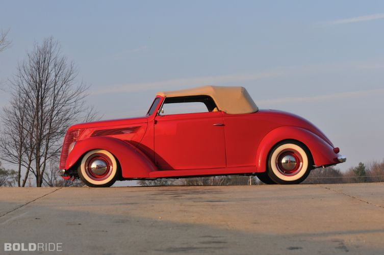 1937 Ford Deluxe Convertible Coupe hot rod rods retro custom r wallpaper